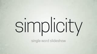 Simplicity Single Word Slideshow
