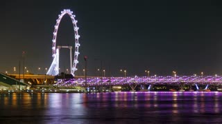 Singapore Flyer, the largest Ferris wheel in the world, Southeast Asia, Asia, Time lapse