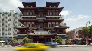 Singapore, Old Chinatown district, New Chinese Buddhist Temple