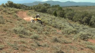 Single Atv Rider Speeds By Camera