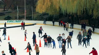 Skaters on Busy Ice Rink in New York 4