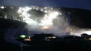 Ski Mountain Time Lapse Into Day