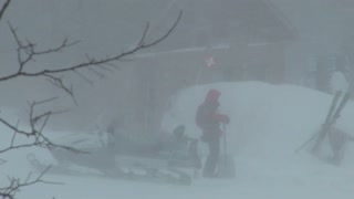 Ski Patrol caught in blizzard