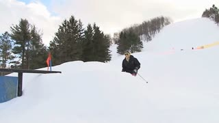 Skier on rails 4