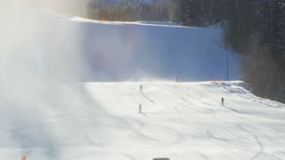 Skiers on Telluride Slopes