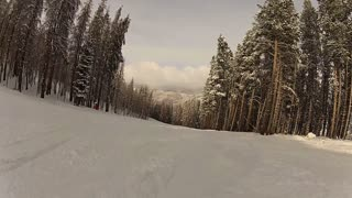 Skiers Point Of View Low