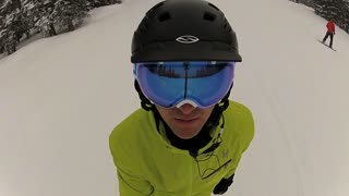 Skiing Perspective Face Closeup Fisheye Lens