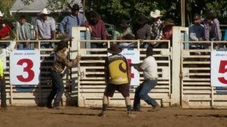 Skilled Rodeo Bull Rider