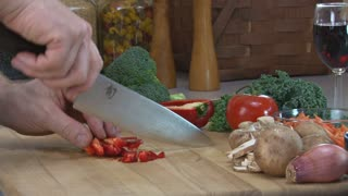 Slicing and Dicing Red Pepper