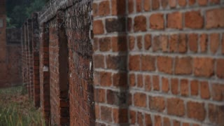 Slide Rail Shot Of Old Brick Walls