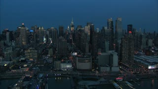 Slow Circling Midtown Manhattan Aerial