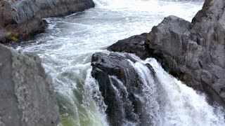 Slow Mo River Waterfall Over Rocks 2