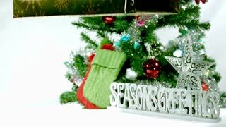 Slow Mo Seasons Greetings Falling Gifts