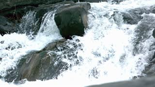 Slow Mo Small Rapids Waterfall