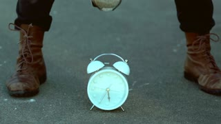 Slow Motion Alarm Clock Smash