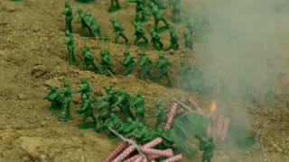 Slow Motion Army Men Explosion 1