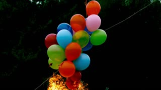 Slow Motion Balloon Fireball