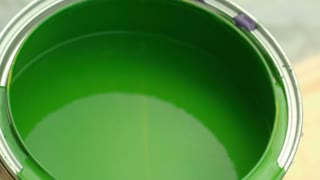 Slow Motion Blue Paint Into Green