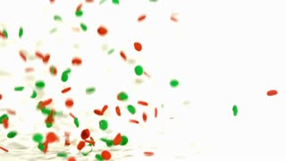 Slow Motion Bouncing Christmas Dots 1