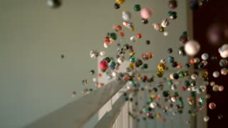 Slow Motion Bouncy Balls Explode From Balcony