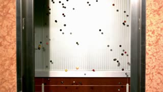 Slow Motion Bouncy Balls in Elevator 2