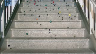 Slow Motion Bouncy Balls on Marble Steps 2