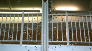 Slow Motion Bouncy Balls Over Balcony 3