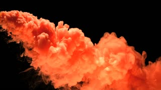Slow Motion Bright Orange Smoke