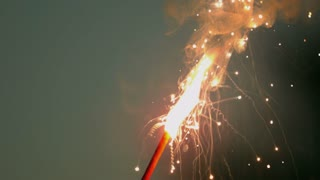 Slow Motion Bright Sparkler