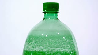 Slow Motion Bubbles In Soda Bottle 2