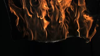 Slow Motion Burning Fabric