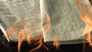 Slow Motion Burning Newspaper 2