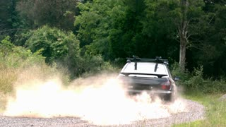 Slow Motion Car Dust Trail 1