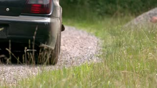 Slow Motion Car Dust Trail 2
