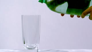 Slow Motion Clear Soda From Bottle 1