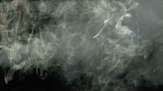 Slow Motion Cloudy Grey Smoke