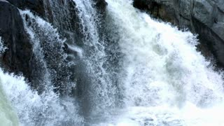 Slow Motion Crashing Whitewater Waterfall