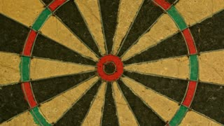 Slow Motion Dart Hitting Dartboard