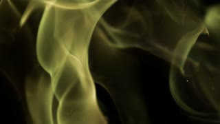 Slow Motion Eerie Green Flames
