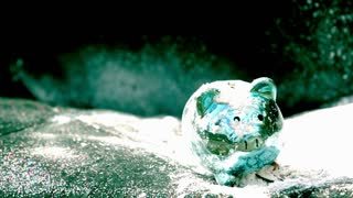 Slow Motion Exploding Piggy Bank