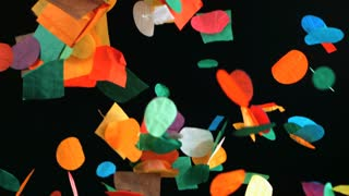 Slow Motion Falling Confetti