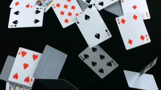 Slow Motion Falling Deck of Cards