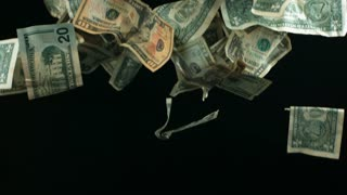 Slow Motion Falling Money
