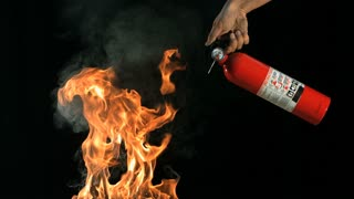 Slow Motion Fire Extinguisher and Flames 2