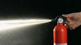 Slow Motion Fire Extinguisher Spraying