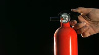 Slow Motion Fire Extinguisher