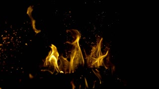 Slow Motion Fireplace Embers