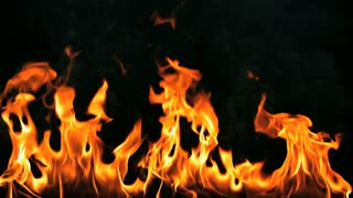 Slow Motion Flames From Bottom of Screen