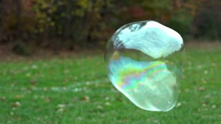Slow Motion Floating Bubble