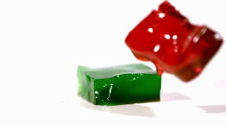 Slow Motion Gelatin Cubes 4